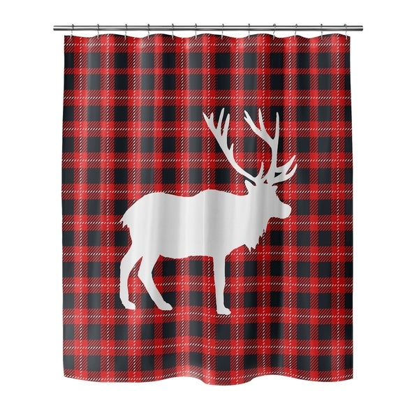 Shop DEER PLAID Shower Curtain By Terri Ellis
