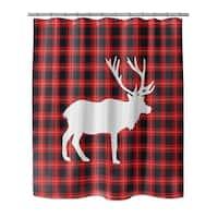 Kavka Designs Deer Plaid Shower Curtain