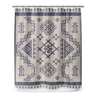 AZTEC LIGHT BLUE Shower Curtain By Marina Gutierrez