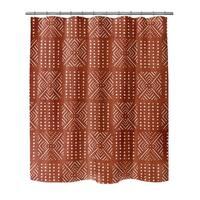 Kavka Designs Ariella  Rust Shower Curtain