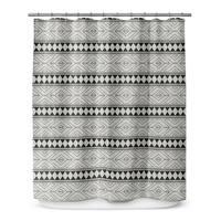 MARRAKESH BLACK Shower Curtain By Marina Gutierrez