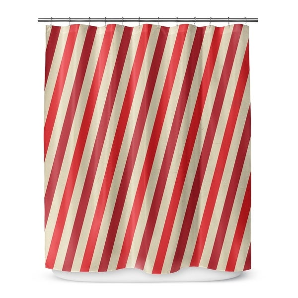 RED STRIPES Shower Curtain By Terri Ellis