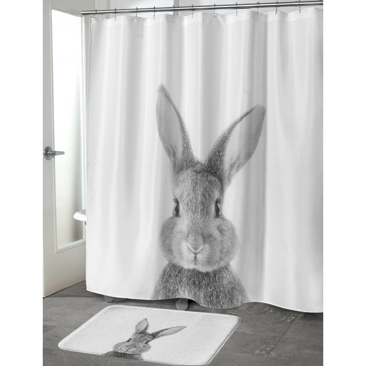 Bunny Shower Curtain By Vivid Atelier On Sale Overstock 18062149 71x74