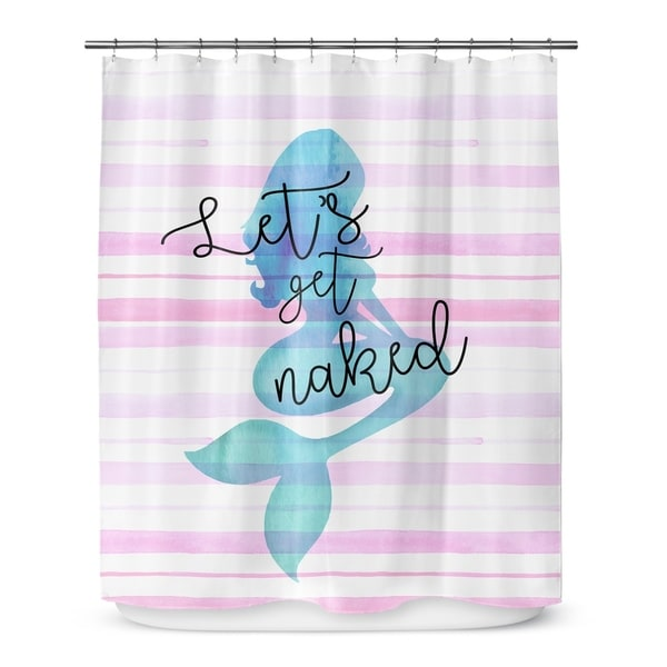 NAKED MERMAID Shower Curtain By Catia Keck