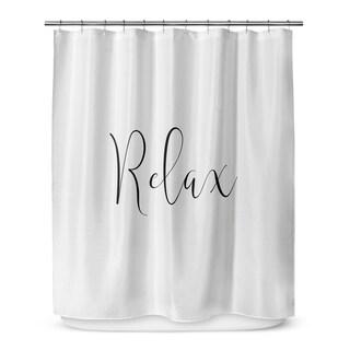 RELAX Shower Curtain By Terri Ellis