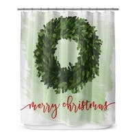 Kavka Designs Merry Christmas Shower Curtain