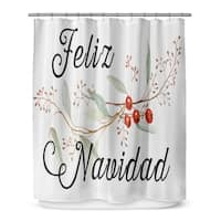 FELIZ NAVIDAD Shower Curtain By Rosa Vila