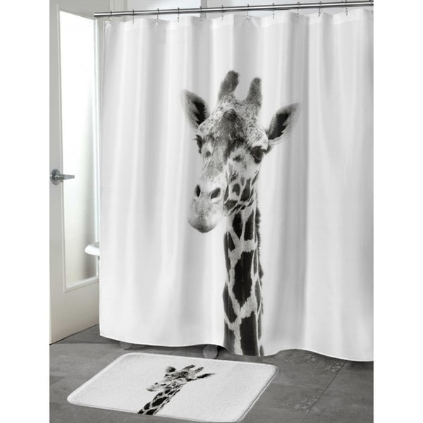 Kavka Designs Giraffe Shower Curtain   Free Shipping Today   Overstock.com    24224988