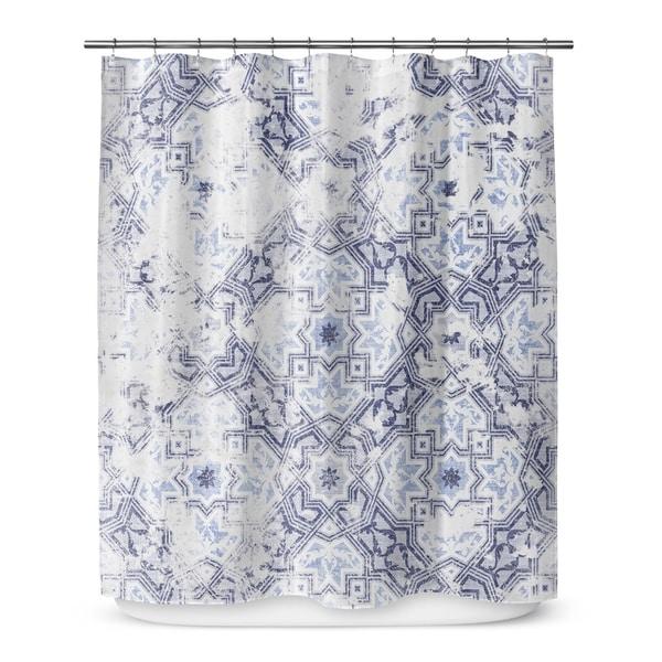 SANDOVAL BLUE Shower Curtain By Marina Gutierrez