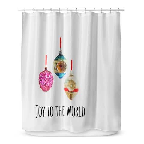 JOY to THE WORLD Shower Curtain by Terri Ellis