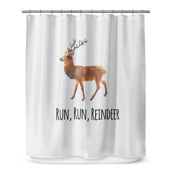 RUN REINDEER Shower Curtain By Terri Ellis