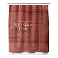 CHRISTMAS CHEER Shower Curtain By Terri Ellis