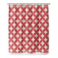 Kavka Designs Christmas In Plaid Red Shower Curtain