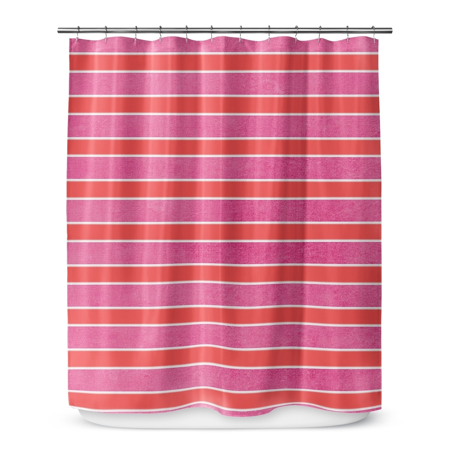 Pink Stripes Shower Curtain By Terri Ellis