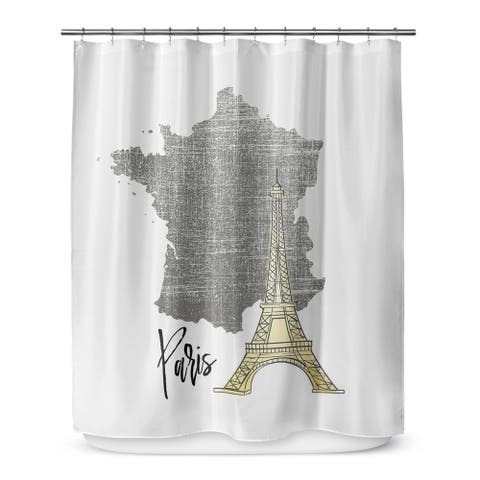 PARIS Shower Curtain By Terri Ellis