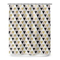GOLD, BLACK ,PINK AND WHITE  Shower Curtain By Terri Ellis