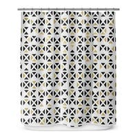 GOLD, BLACK AND WHITE 6 Shower Curtain By Terri Ellis