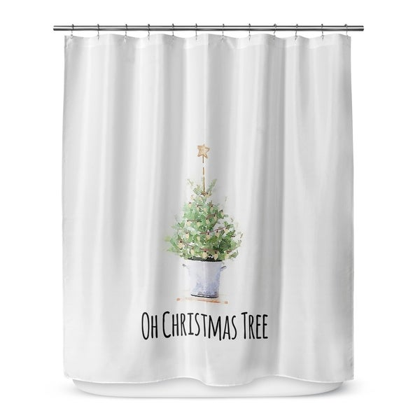 OH CHRISTMAS TREE Shower Curtain By Terri Ellis