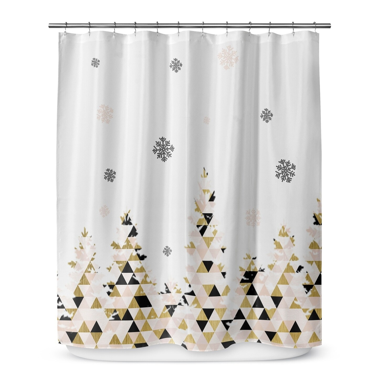 Christmas Snow Shower Curtain By Terri Ellis