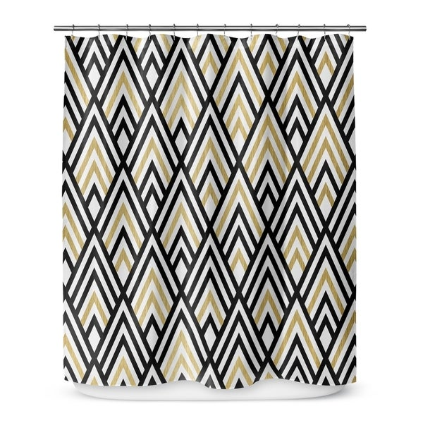 Shop GOLD BLACK AND WHITE 2 Shower Curtain By Terri Ellis