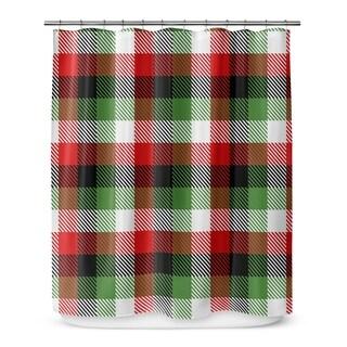 Kavka Designs Christmas Plaid III Shower Curtain