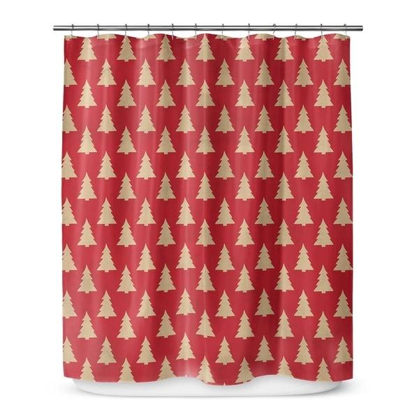 Kavka Designs Christmas Tree Shower Curtain