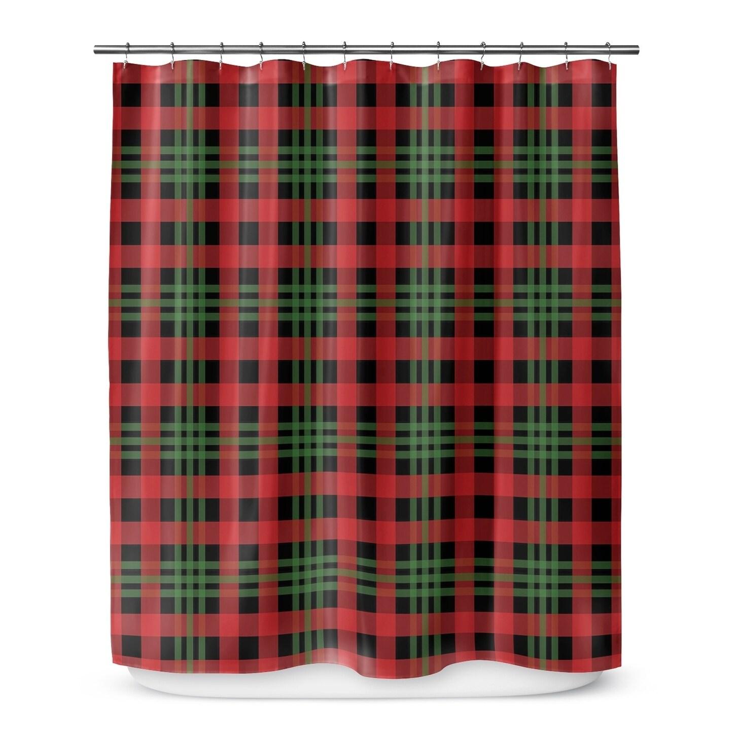Christmas Plaid 3 Shower Curtain By Terri Ellis