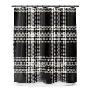 Kavka Designs Plaid Grey Shower Curtain