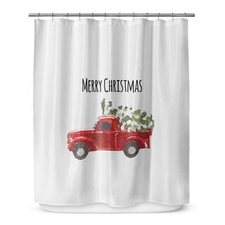 Kavka Designs Christmas Truck Shower Curtain