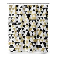 Kavka Designs Gold Black And White III Shower Curtain