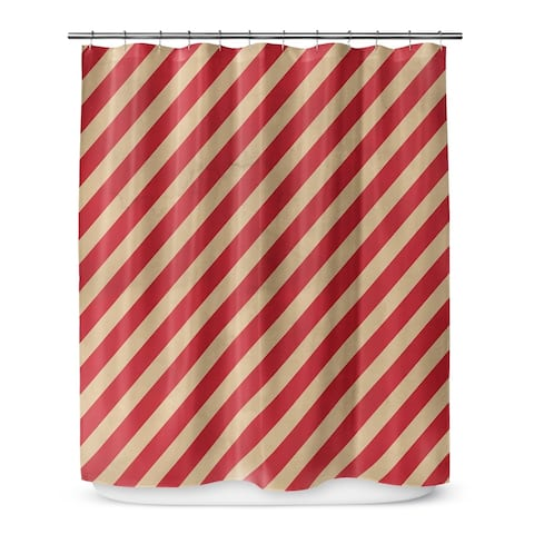 RED STRIPES Shower Curtain by Terri Ellis