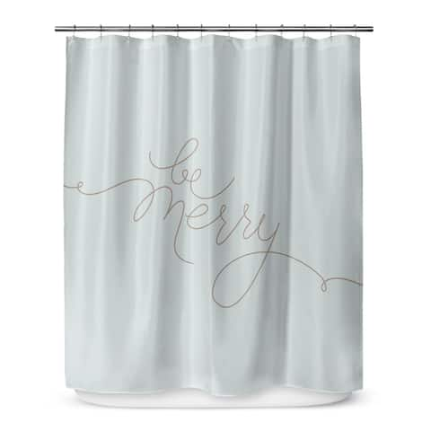 BE MERRY Shower Curtain By The Stylescape