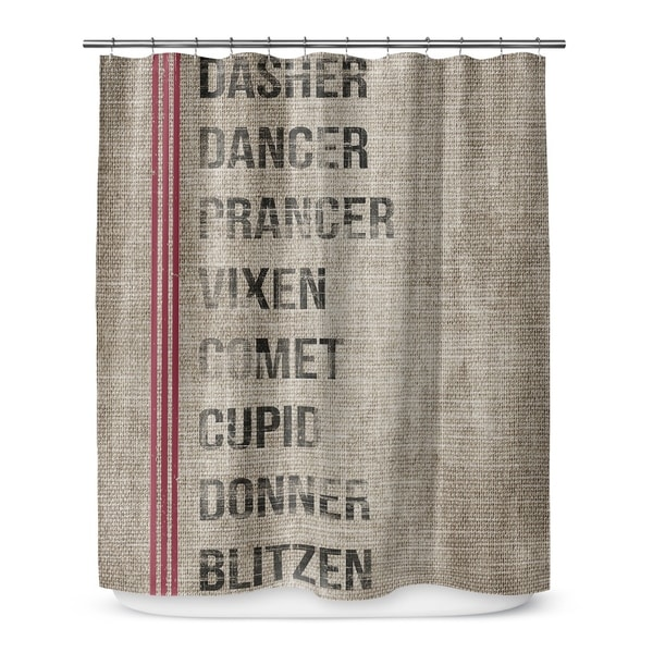 SANTAx27S REINDEER Shower Curtain By Terri Ellis