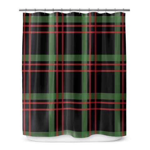 CHRISTMAS PLAID 2 Shower Curtain By Terri Ellis