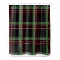 CHRISTMAS PLAID 2 Shower Curtain By Terri Ellis