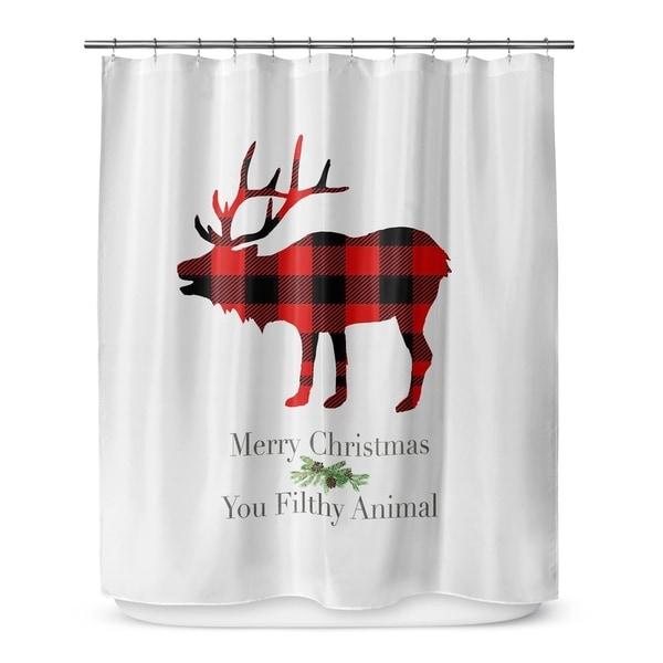 FILTHY ANIMAL Shower Curtain By Terri Ellis