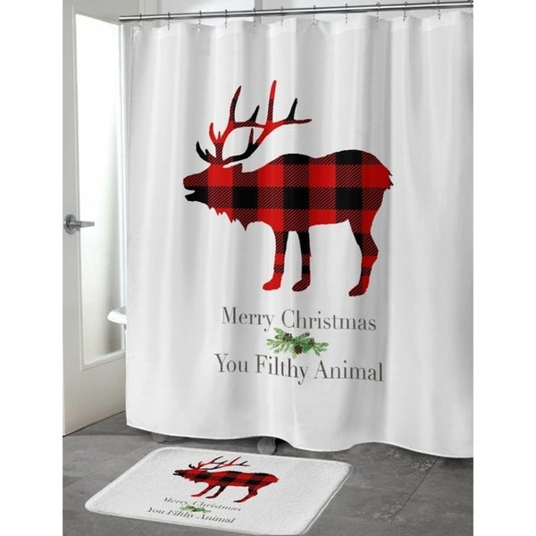 Good Kavka Designs Filthy Animal Shower Curtain   Free Shipping Today    Overstock.com   24225023