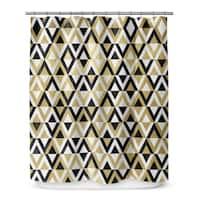 Kavka Designs Gold Black And White IV Shower Curtain