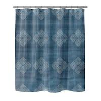Kavka Designs Blane  Blue Shower Curtain