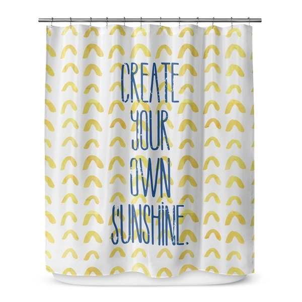 Shop Create Your Own Sunshine Shower Curtain By Terri Ellis On
