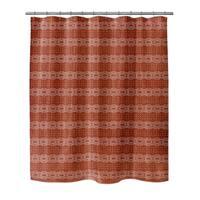 Kavka Designs Dune  Rust Shower Curtain