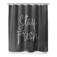 STAY FRESH BLACK Shower Curtain By Terri Ellis