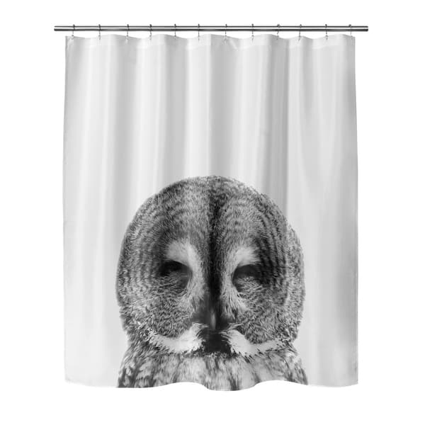 c635b6d3025 OWL Shower Curtain By Vivid Atelier - Free Shipping Today ...