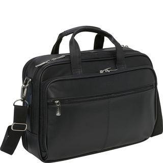Kenneth Cole Reaction Manhattan Leather Double Compartment 15.4-inch Laptop Bag