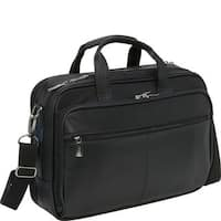 Kenneth Cole Reaction Manhattan Leather Double Compartment Top Zip 15.4in Computer Business Portfolio