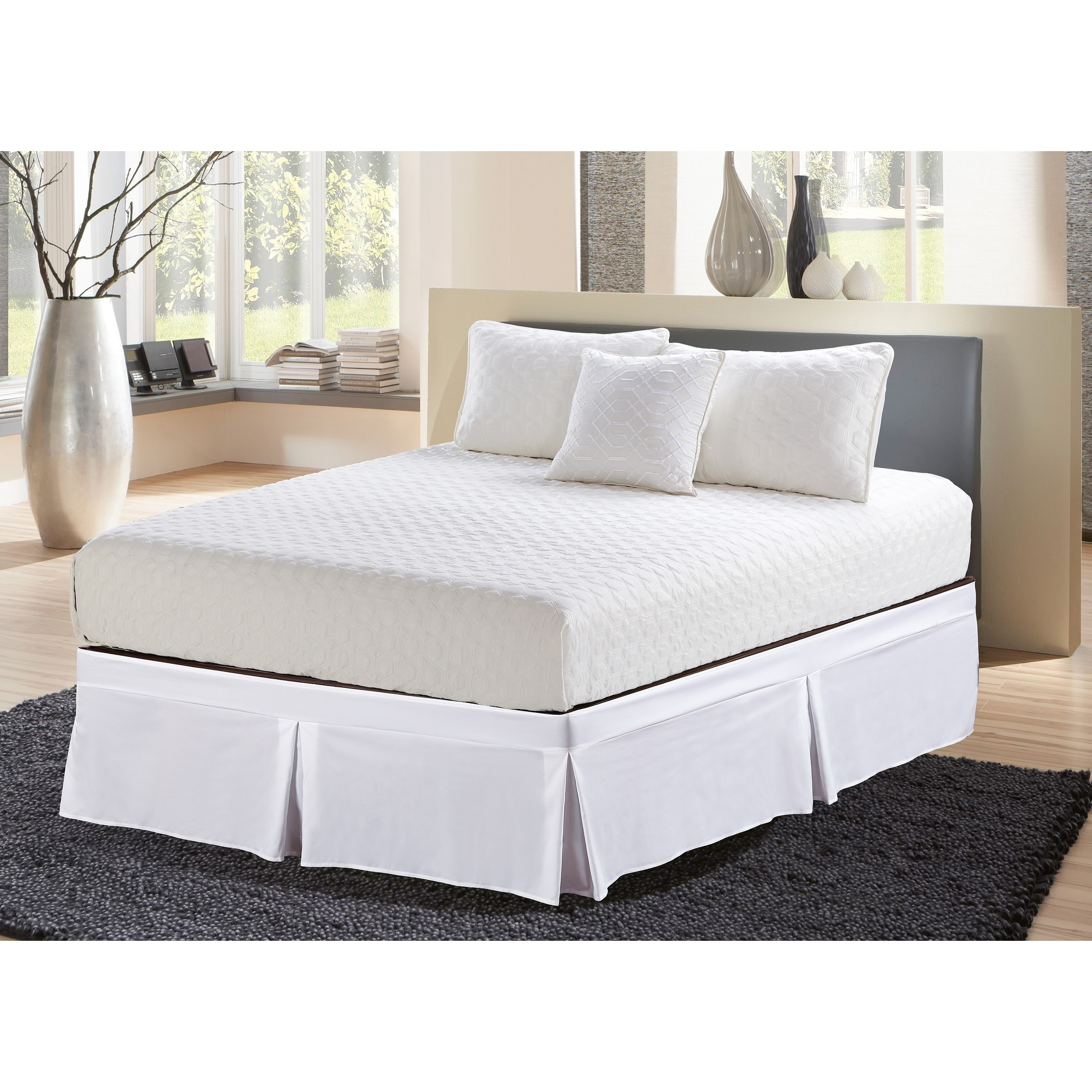 Wrap Around Style Tailored Bed Skirt 16 Drop On Sale Overstock 18062517