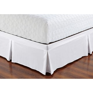 De Moocci Wrap Around Style Tailored Bed Skirt - Never Lift Your Mattress, Generous 16'' Drop, Pleated Styling, Hotel Quality