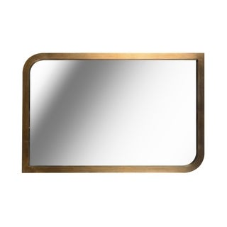"Design Craft Swish 36"" Brass Wall Mirror"