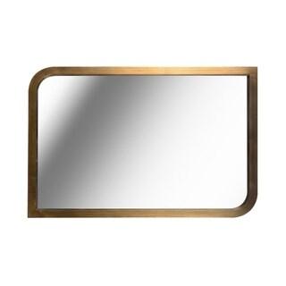 "Swish 36"" Brass Wall Mirror - 24"" x 36"""