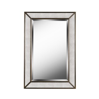 "Design Craft Synthia 36"" Antiqued Wall Mirror"